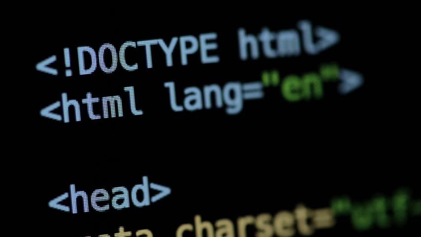 HTML and CSS code developing. Website design code programming on a laptop screen.  | Shutterstock HD Video #28906825
