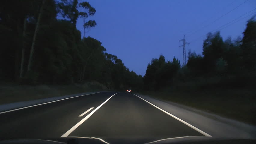 how to drive on the highway at night