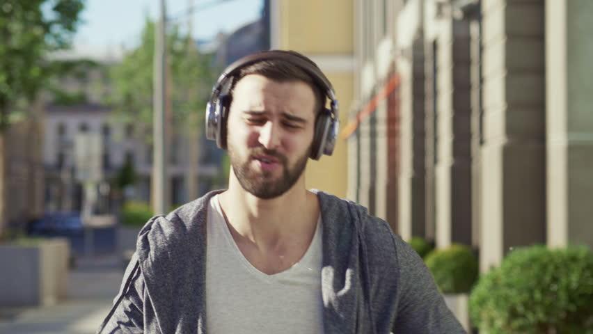 Dancing man with headphones | Shutterstock HD Video #29006245