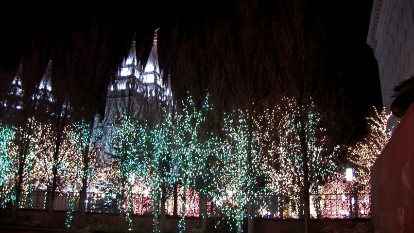 SALT LAKE CITY, UTAH - DEC 2016: LDS Temple Salt Lake City Utah ...