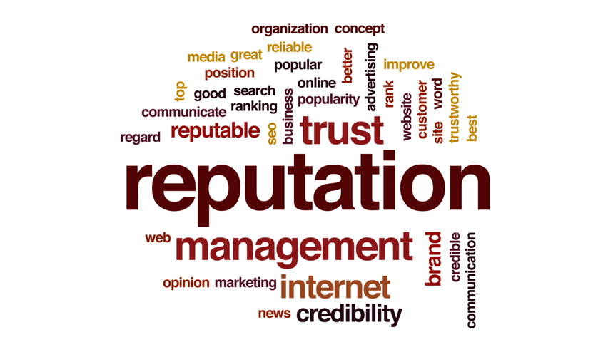 Reputation animated word cloud, text design animation. | Shutterstock HD Video #29082862