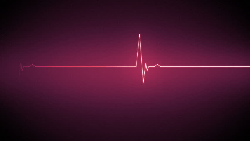 pink ecg heart monitor line on black background stock footage, Powerpoint templates