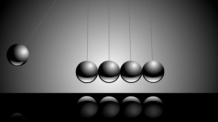 The Newton Cradle Pendulum Balls Swinging Back And Forth ...