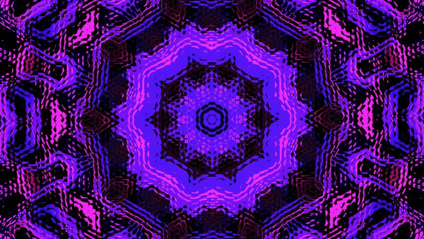 4k0010Psychedelic Visual Background Kaleidoscopic Mandalas 4K