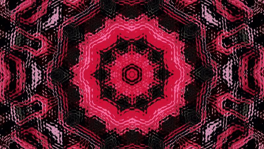 Psychedelic visual background. Kaleidoscopic mandalas. 4K