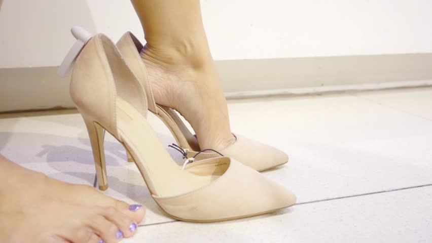 Woman shoe shopping 4K stock video | Shutterstock HD Video #29163655