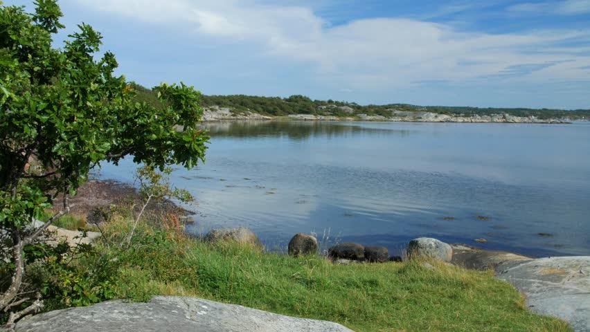Peaceful Sea Bay In Amundön Stock Footage Video 100 Royalty