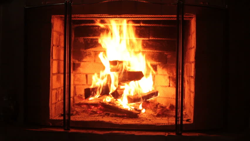 Looped Fireplace Stock Footage Video 20229619   Shutterstock