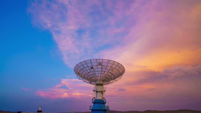 4K: Very Large Satelite Dishe Telescope,Military Radar,Space exploration.  - Space Science | Shutterstock HD Video #29290855