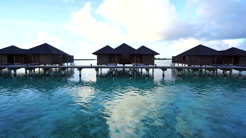 The Footbridge Leading To Villa On Maldives