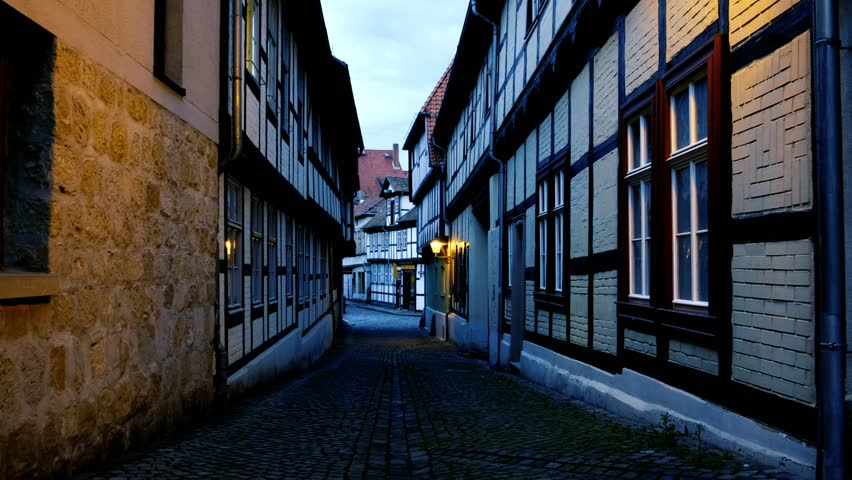 Vertical pan of world heritage town Quedlinburg | Shutterstock HD Video #29476948