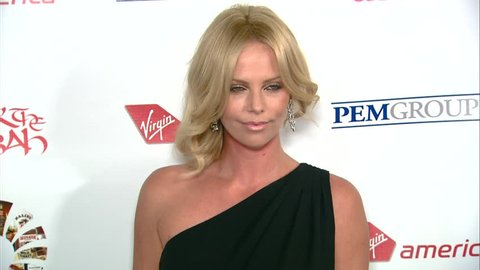 Hollywood, CA - OCTOBER 23, 2008: Charlize Theron walks the red carpet at the Richard Branson's Rock The Kasbah Benefit held at the Hollywood Roosevelt Hotel