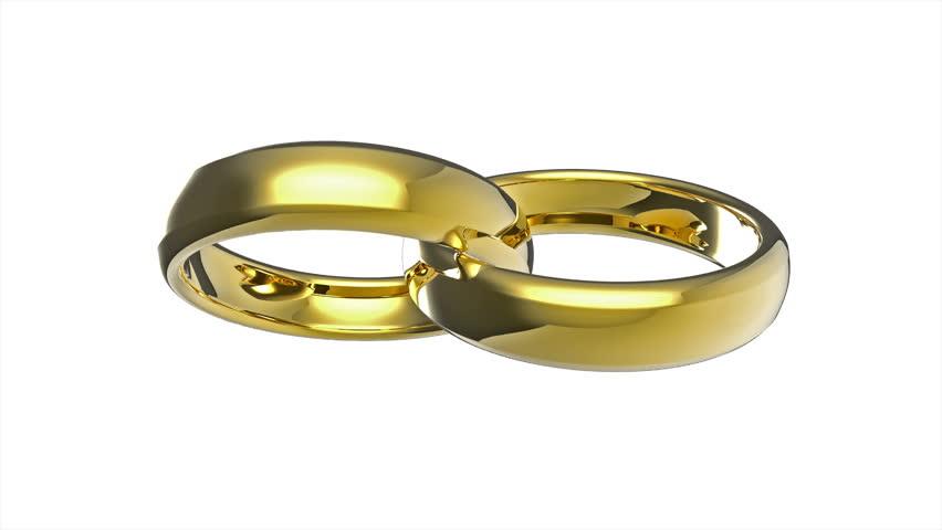 Wedding Rings 3d Animation