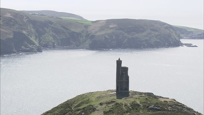 Port Errin, Lookout Tower On Nearby Cliff Side | Shutterstock HD Video #29628895