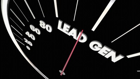 Lead Gen Customers Prospects Speedometer Measure Results 3d Animation