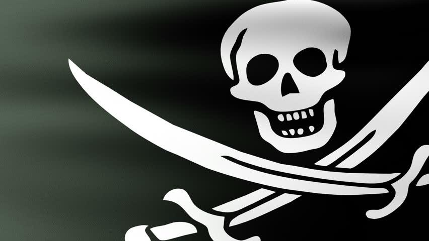 Pirate Flag Waving   Shutterstock HD Video #2974549