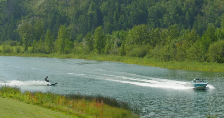 Ski Jumper launches from ramp and soars through the air. Shalom Park, Alberta. August 6, 2017   Shutterstock HD Video #29750365