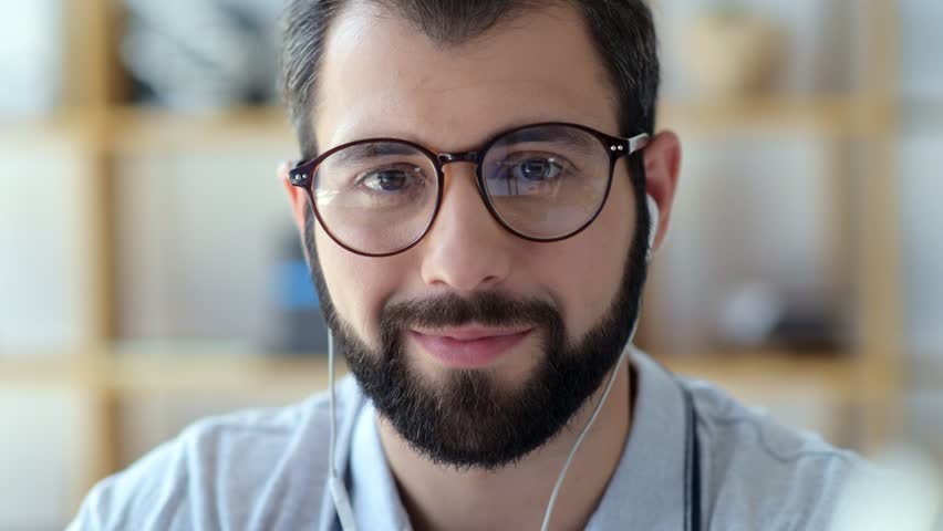 Bearded millennial gut looking into camera | Shutterstock HD Video #29755915