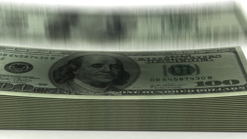 Counting Dollars on white background   Shutterstock HD Video #2976625