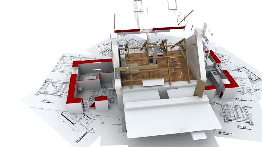 3d Animation Showing A Home Construction Process From The Blueprints To The Roofing Installation Stock Footage Video 2980012 Shutterstock