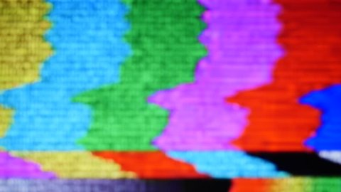 tv static noise color bars bad signal