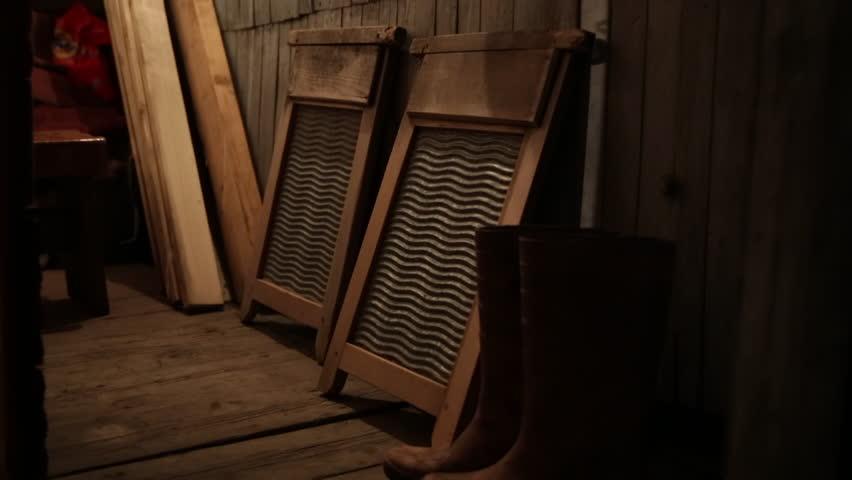 Inside the Russian Sauna: washing boards - close up   Shutterstock HD Video #29874235