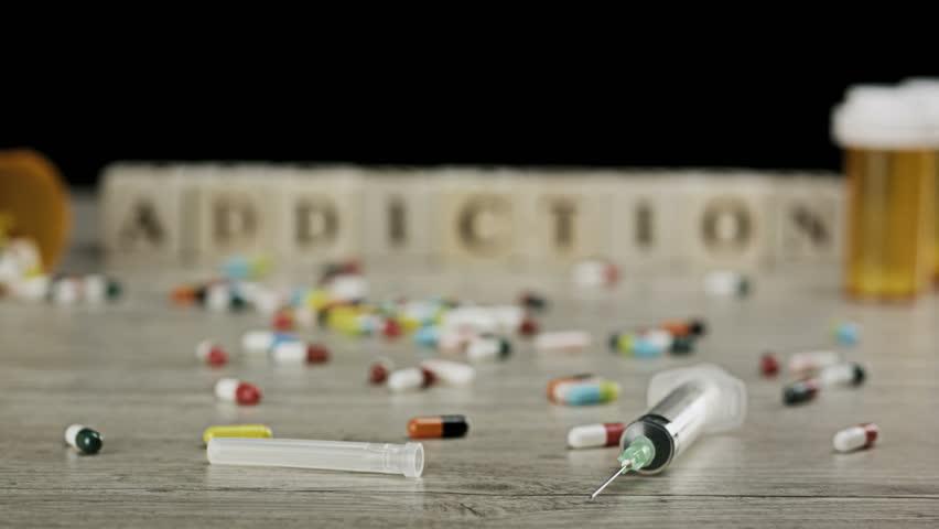 Header of drug addiction