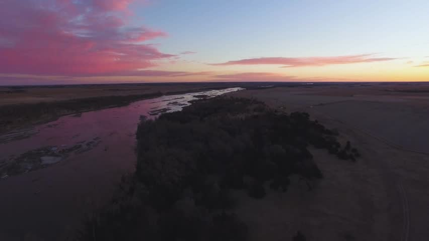 Drone Flying Backwards From River | Shutterstock HD Video #29908855