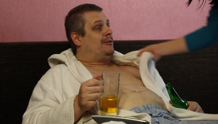 Woman Awakens Drunk Man Stock Footage Video 100 Royalty Free