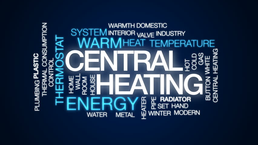 Central Heating Animated Word Cloud Text Design Animation