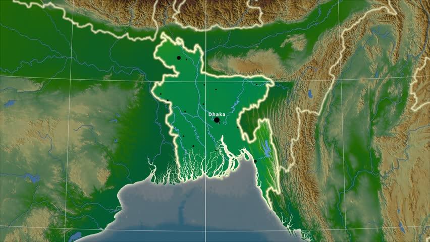 Bangladesh Map Stock Footage Video Shutterstock