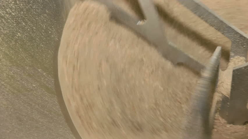 Industrial Mixing Of The Crushed Wheat Grain Hd Stock Video Clip