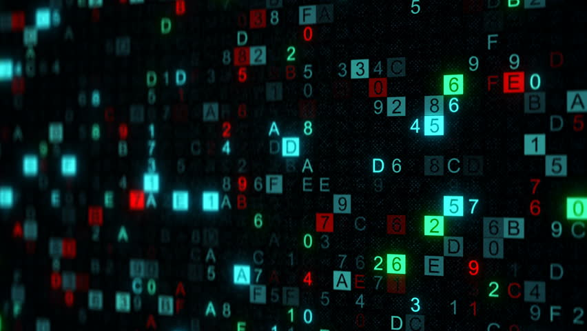 Digital data hex code on screen. Abstract information technology concept. Computer generated seamless loop animation rendered with DOF 4k UHD (3840x2160) | Shutterstock HD Video #29994982