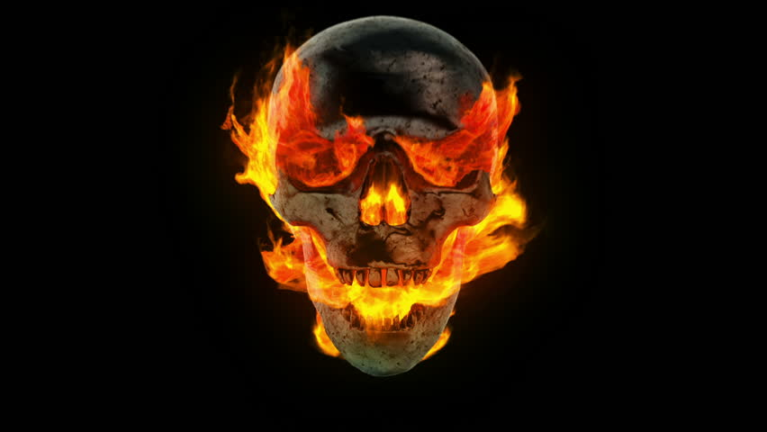 Burning Skull And Crossbones Stock Footage Video 3077947 ...
