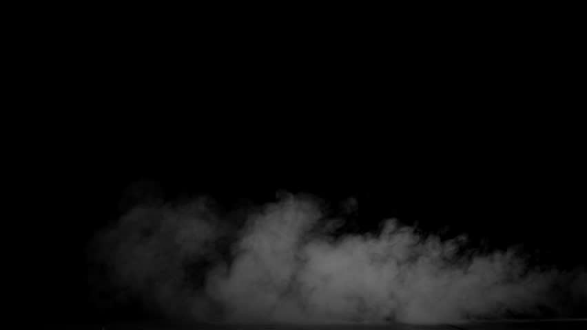 Blowing smoke, footage on a black background for overlay. #30009715
