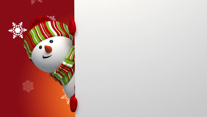 Snowman greeting banner | Shutterstock HD Video #3003745