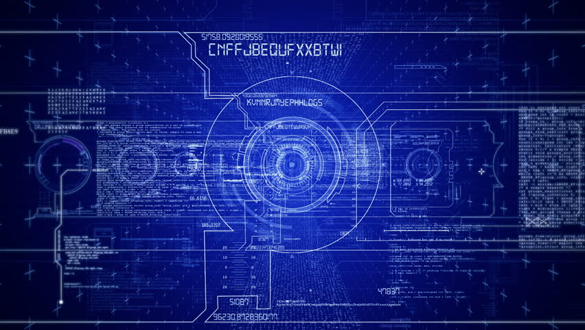 Stylized interface design process blueprint animation concept futuristic hud interfacest technological intromera moves through heads up displays and digital malvernweather Images