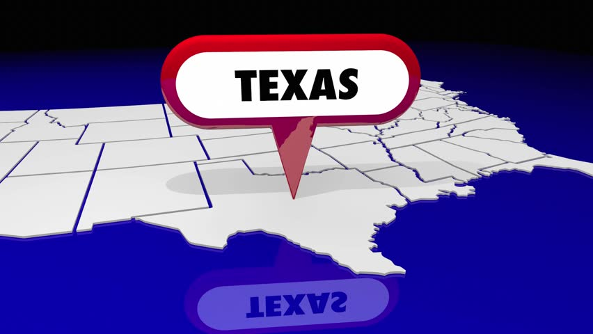 Texas Tx State Map Pin Stock Footage Video 100 Royalty Free