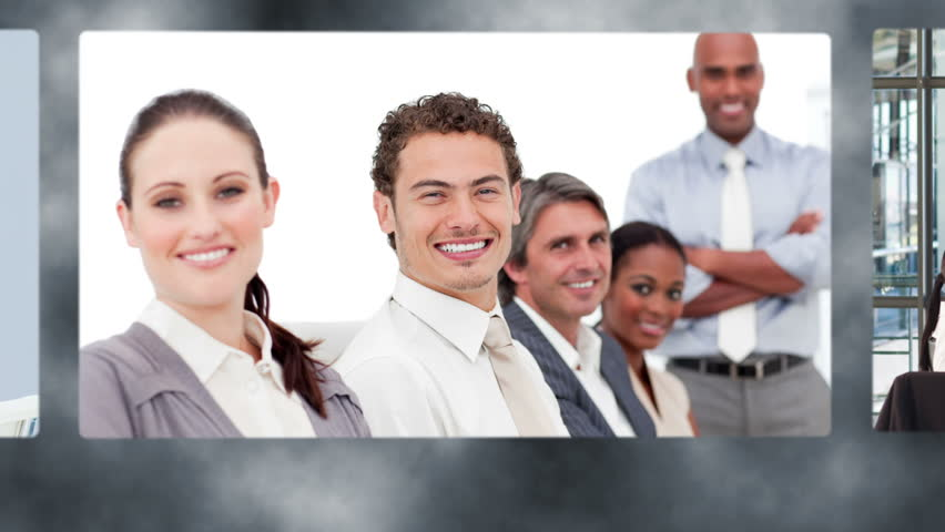 Montage of happy business team together in their company | Shutterstock HD Video #3008275