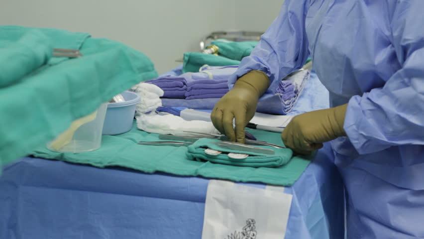 Hands Surgical Nurse Protective Gloves Handling Sterile