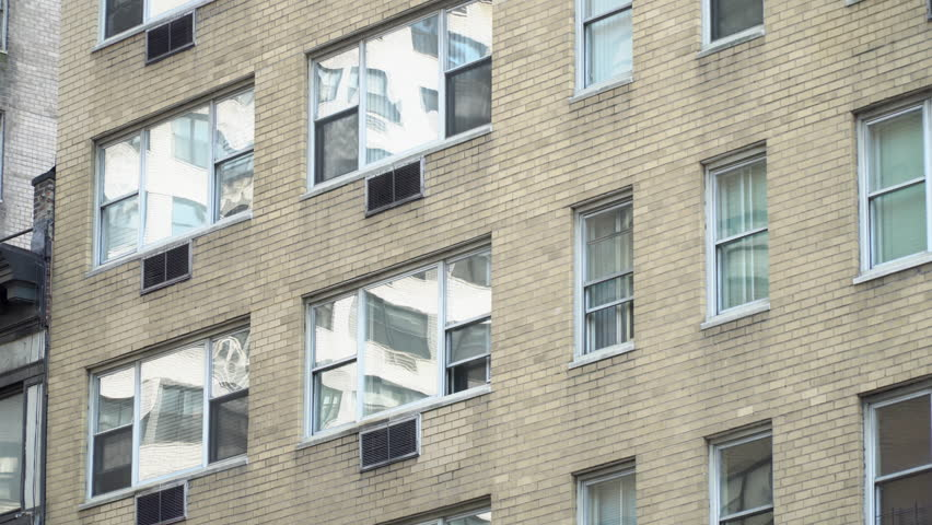 Brick Apartment Building Window brick apartment building nyc exterior establishing shot day dx