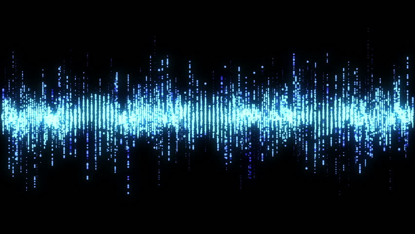 Blue high tech waveform