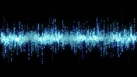 Blue high tech waveform