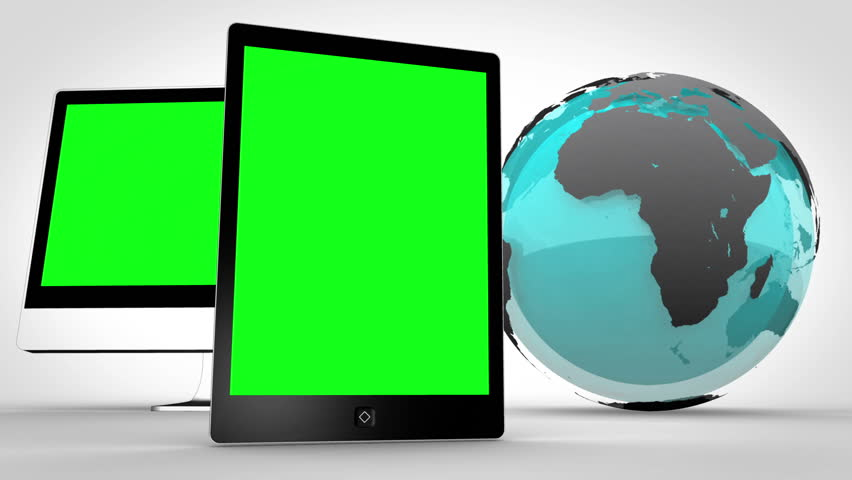 Animation of multimedia devices with an Earth image courtesy of Nasa.org | Shutterstock HD Video #3012505