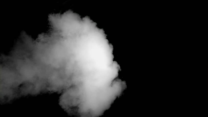 Mushroom Smoke Cloud After Explosion. Alpha Channel Stock ... Mushroom Cloud White Background