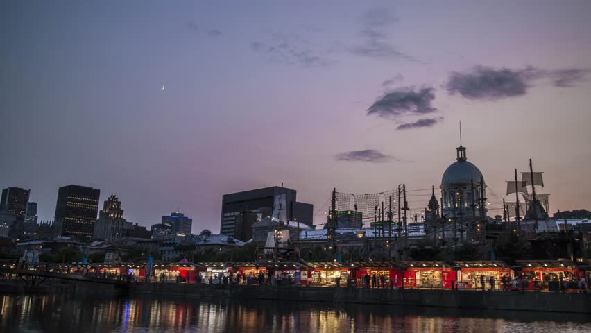 Montreal vieux port time lapse | Shutterstock HD Video #30155035