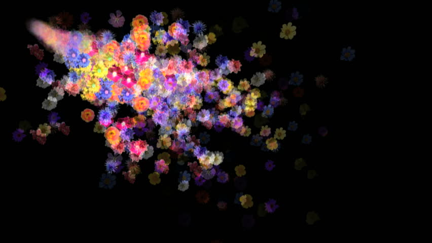 Flowers motion background. 3d animation with alpha matte. | Shutterstock HD Video #302539