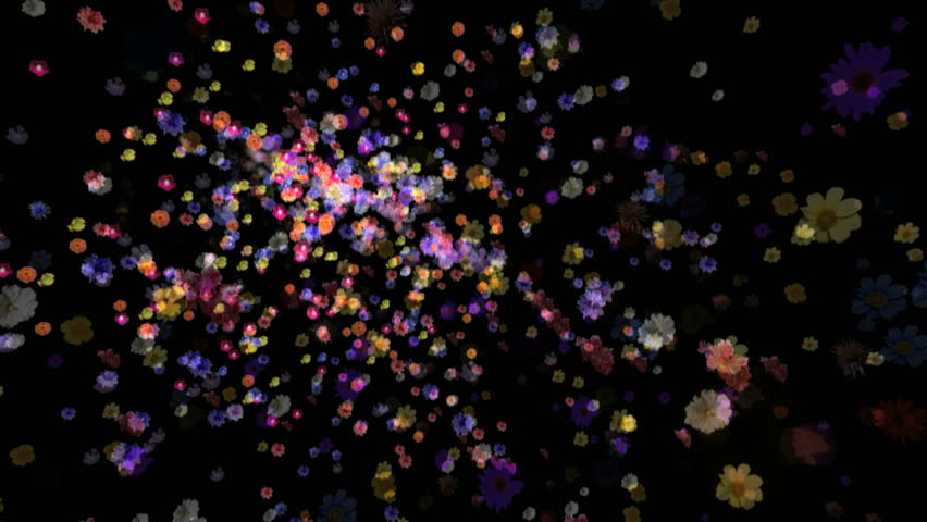 Flowers motion background. 3d animation with alpha matte. | Shutterstock HD Video #302545