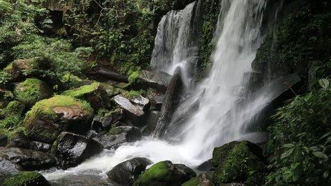 Romklao Paradon Waterfall , Phu Hin Rong Kla; National Park at Phitsanulok, Thailand