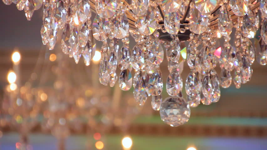 Luxury Crystals Of A Classic Chandelier Close Up Beautiful Crystals Of A Luxury Chandelier It